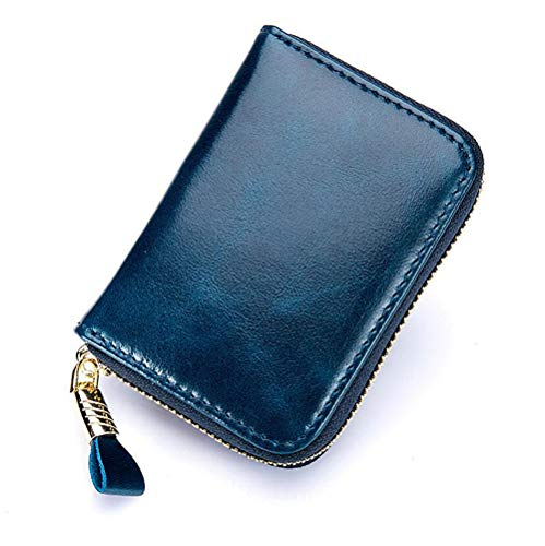Addfect Damen Herren Kreditkartenetui Fächer Geldbörse Kreditkartenhüllen mit Viel Platz Portemonnaie mit Münzfach und Geldfach Einfach Charme Geschenk,Multicolor (Blau)