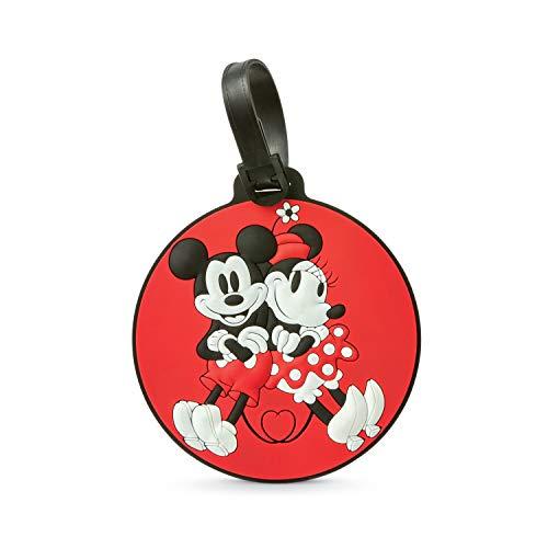 American Tourister Disney Luggage Tag, Mickey & Minnie Kiss, One Size
