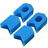 ENLEE Bicycle Crank Protector, MTB Mountain Road Bike Crankset Caps Protector.(Blue)
