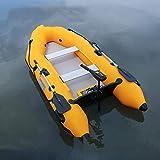 Fnho Lancha motora Kayak,Bote Inflable de Pesca Engrosado,Bote Inflable, Bote de Goma para Kayak portátil-Aleación de Aluminio V_2.8M