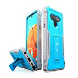 FITO for LG K51 Phone Case, Dual Layer Shockproof Heavy Duty Case for LG K51 Without Screen Protector, Built-in Kickstand (Blue, K51)
