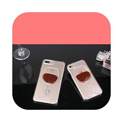 Carcasa de cristal vino, rojo líquido 3D para Huawei Honor 10I 20 9 10 Lite Pro P Smart 2021 Z 8X 9X Y9 Prime 2019 Nova 5T-Red Wine-for Honor 8X