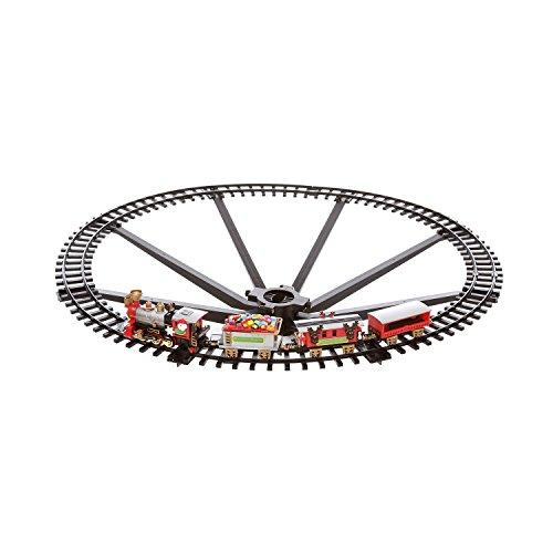 Trenino elettrico con luci e suoni agganciabile allalbero di Natale Multicolore