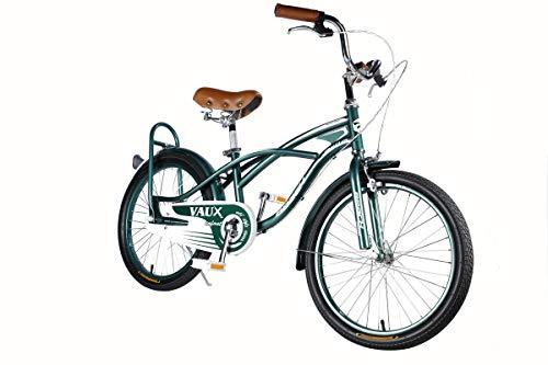 Vaux Beach Cruiser European Fashion Kids Bicycle (20T, Green)