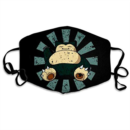 Mundschutz Snorlax Pokemon Hip Hop Face Cover, Roleplaying Japanese Anime Cartoon Style Face Cover, Washable and Reusable Mouth Cover