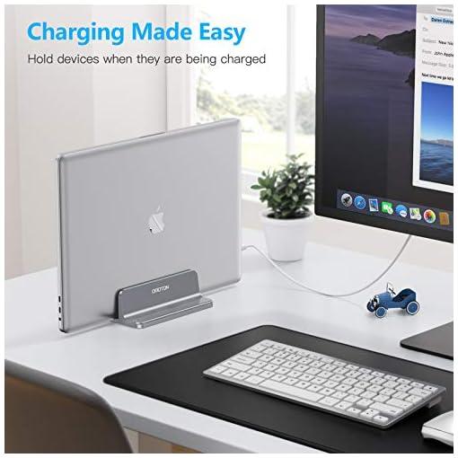 OMOTON Soporte Laptop, Atapta a Macbook Pro/Air, Huawei, DELL y Otros Portátiles y Netbooks, Vertical Soporte para… 6