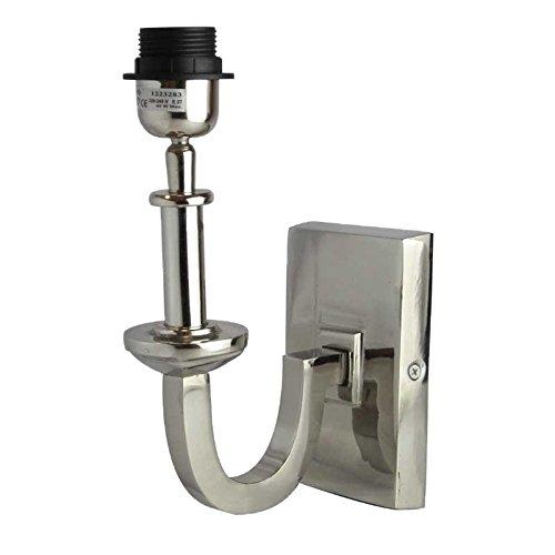 Better & Best wandlamp met gebogen arm en rechthoekige plaat, zilverkleurig