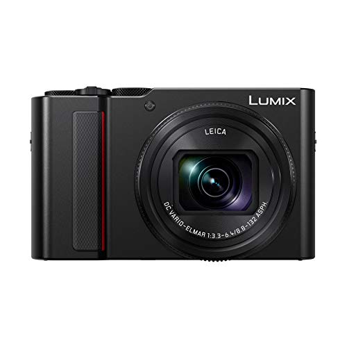 Panasonic Lumix Kompaktkamera Expert Zoom DC-TZ200EF-K (großer Sensor Typ 1 Zoll 20 MP, Zoom Leica 15x F3.3-6.4, Sucher, Touchscreen, 4K Video, stabilisiert) schwarz – Französische Version