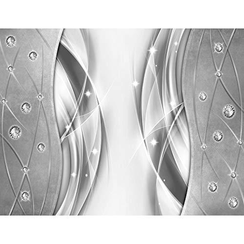 Carta da parati fotografica 396 x 280 cm Estratto diamante   Vello Decorazione Murale Soggiorno Camera Da Letto   Manifattura tedesca   Grigio 9318012c