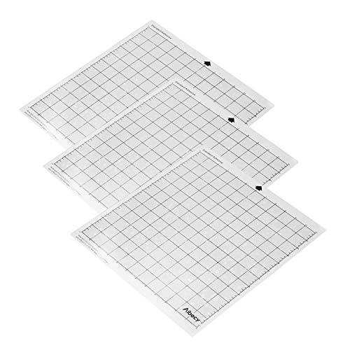 Aibecy Máquina de corte Almohadilla especial Reemplazo de rejilla de medición de 12 pulgadas Material de PP translúcido Estera adhesiva para Silhouette Cameo Plotter Machine 3PCS