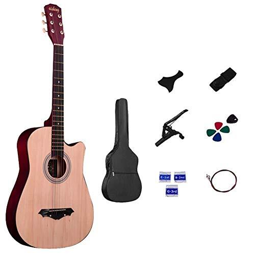 Guitarra eléctrica Guitarra acústica de madera guitarras for principiantes Kits, 38 pulgadas...