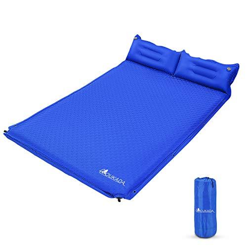 YOUKADA Sleeping Pad Foam Self Inflating Camping Mat Double