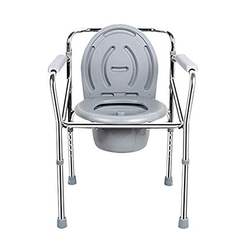 Bathroom Wheelchairs RRH Bedside Commodes Wheelchairs Commode Elderly Pregnant Woman Home Commode Foldable Height Adjustable Toilet Seat Bathroom Bath, Grey