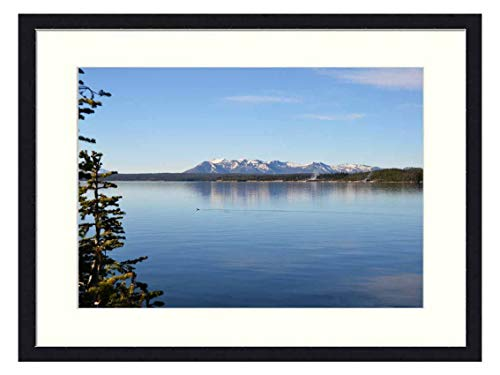 OiArt Wall Art Canvas Prints Wood Framed Paintings Artworks Pictures(20x14 inch) - Lake View Water Shoreline Nature Scenery Trees