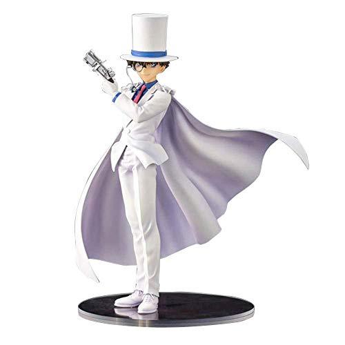 N / A Anime Detektiv Conan Kuroba Kaito Kiddo Kid The Phantom Thief PVC Figura Estatua Figura Coleccionable Regalo para fanáticos