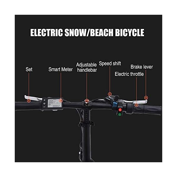 41Fq7wf4W1L. SS600  - GUNAI 500W Elektrofahrräder,20 Zoll Faltbare Mountain Snow E-Bike Rennrad mit Scheibenbremsen 7 Geschwindigkeit (Schwarz)