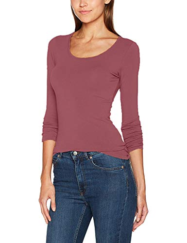 ONLY Damen Langarmshirt Onllive Love New LS O-Neck TOP NOOS, Rosa (Withered Rose), 40 (Herstellergröße: L)