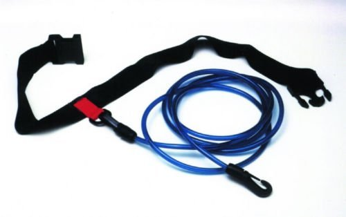 Great Features Of Aquatic Fitness Equipment Water Gear Swimmer's Leash Stationary Cords Swim Pool Hi...