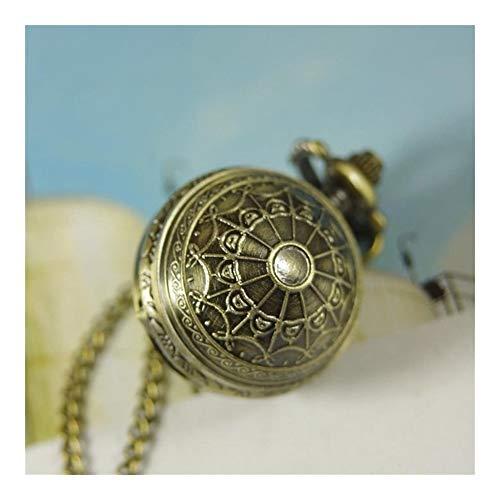 LUOSI Chain degli Uomini delle Donne Signora Steampunk Ragnatela Sfera Shell Collana della Vigilanza di Tasca Regalo