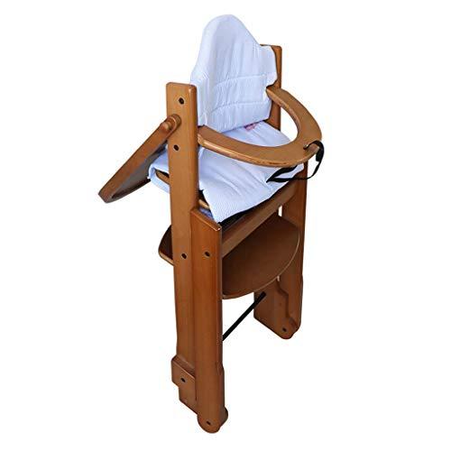 Comfortable Home Chaise Haute Pliante en Bois, Chaise de Salle à Manger pour bébé, Chaise Haute pour Ascenseur, adaptée aux bébés d'affaires âgés de 1 à 8 Ans