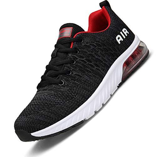 Hombre Aire Zapatillas Trail Running Mujer Deportivas para Correr Transpirable Antideslizante Sneakers Gris 41 EU