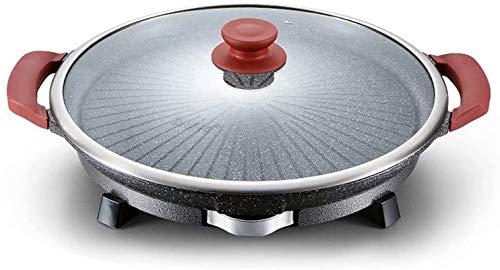 Parrilla eléctrica portátil, Barbacoa de la asador redonda de estilo coreano con...