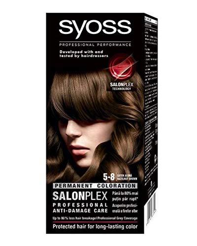 Syoss Color Classic SalonPlex Permanent hair dye 5-8 Hazelnut Brown