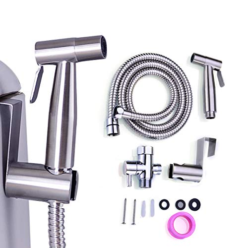 Bidet Sprayer for Toilet, Handheld Cloth Diaper Sprayer,Stainless Steel,Easy to Install and Great Hygiene with Adjustable Water Pressure