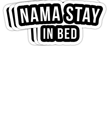 Peach Poem Nama Stay in Bed Funny Workout Gift Decorations - 4x3 Vinyl Stickers, Laptop Decal, Water Bottle Sticker (Set of 3)