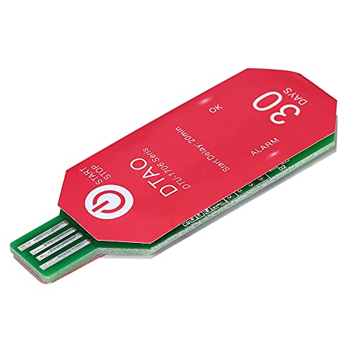 skrskr Resistente al agua PDF Desechable USB 2.0 Registrador de datos de temperatura 30 días Termómetro de cadena fría Registrador para la industria química biológica/de medicina DTU-1706