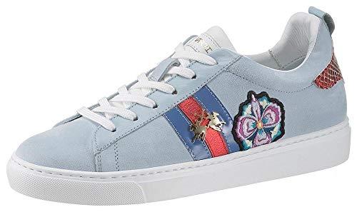 La Martina Damen Sneaker Camoscio Sky Way hellblau (35, Blau (hellblau))
