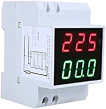 Gaoominy Din-Rail Digitale ampèremeter, led-spanningsmeter, AC80-300 V, 0,2-99,9 A, dubbele weergave