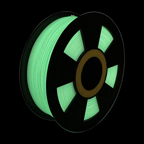 ZIRO PLA Glow Filament 1.75mm,3D Printer Filament PLA PRO 1.75mm Glow in The Dark Color 1KG(2.2lbs),Dimensional Accuracy +/- 0.03mm,GID Green