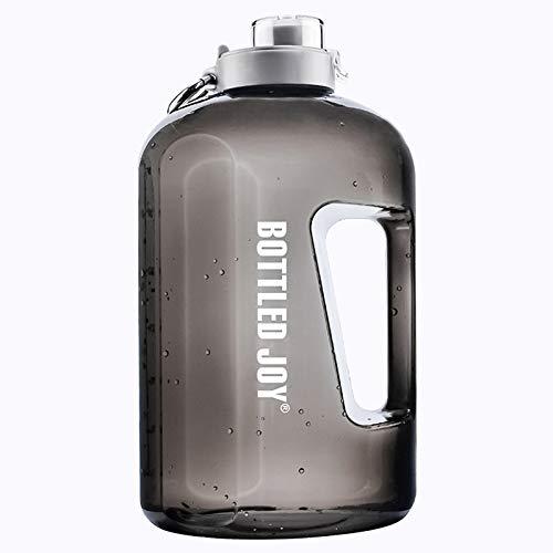 GYAM Wasserflasche, Sport-Wasserkrug Mit Zeitmarkierung 100{745601cf097fdb96ac51ccbc5d265d71333c8210906742ce6dcf1053943148e6} BPA-Frei Für Bodybuilding-Sport Im Freien,Schwarz