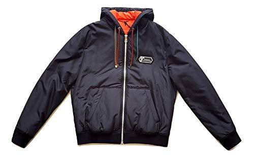 Versace Bomber - Chaqueta de hombre V500584VT00681, color negro Negro 54