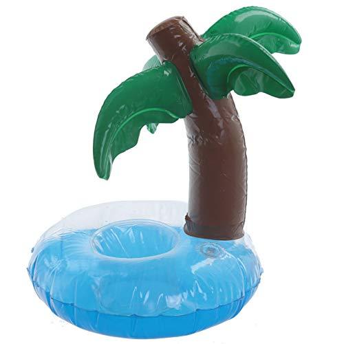 HoitoDeals 1 soporte inflable para bebidas con palmera tropical divertida.
