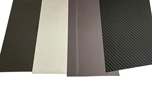 Autofolie, zelfklevend, carbon 3D 6D, pianozwart, aluminium brush, zilver, voor decoratieve lijsten, spiegels, spoilers, buiten- en binnendelen, folie voor professionals en leken, keuze 37,5 x 100cm Aluminium borstel zilver