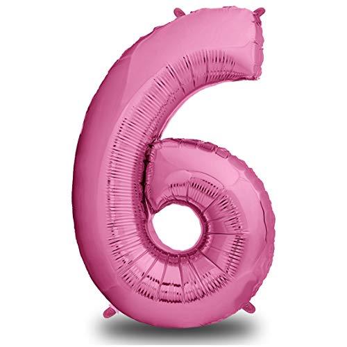 envami Luftballon Geburtstag XXL Pink - Riesen Folienballon in 40