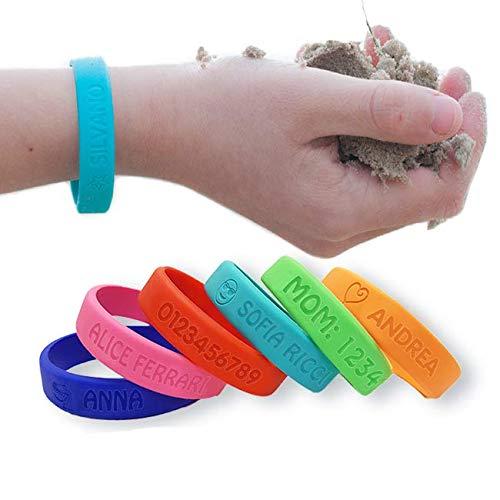 Braccialetto SOS personalizzabile per bambini - Stellasticker, ultra resistente e impermeabile.