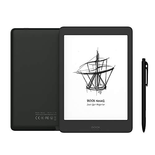 BOOX Nova2 7.8 inch e Reader Black, Android 9.0, 3+32GB, Octa-core 2.0GHz processor, OTG, Frontlight,5GHz WiFi
