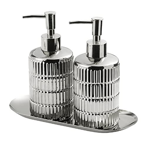 Beaupretty Leere Shampoo Flaschen mit mit Lotion Pumpe Dispenser Nachfüllbare Behälter für Lotion Massage Öl Shampoo Und Mehr (Silber)
