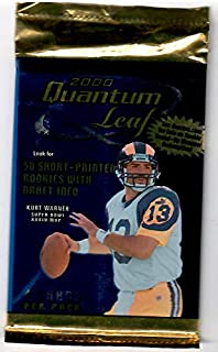 2000 Quantum Football Sealed Hobby Pack Of 4 Cards Tom Brady Rookie Card?