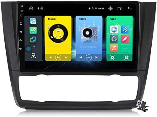 9 pollici QLED Touch Screen Android 10 navigazione multimediale per BMW 1-Series E88 E82 E81 E87 2004~2011, RDS FM AM Autoradio Stereo con sistema GPS, supporta DSP Carplay