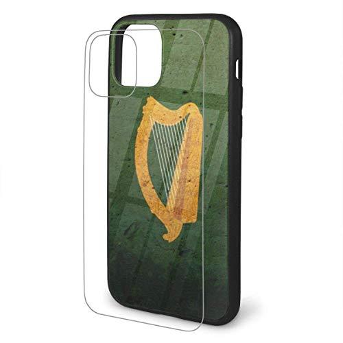 The Irish Harp TPU Glass Phone Case Funda Protectora Flexible para teléfono de Dibujos Animados para iPhone 11 Pro MAX Case