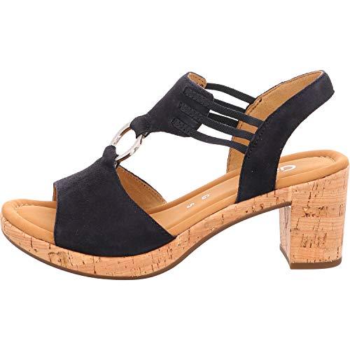 Gabor Shoes Damen Comfort Sport Riemchensandalen, Blau (Pazifik (Kork) 46), 39 EU