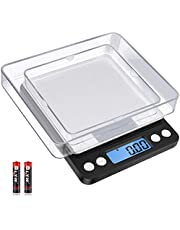 Diyife Precision Balance 500g/0.01g, Kitchen Scale, Pocket Scale, Jewelry Scales, High Precision Electronic Scale, LCD Monitor, Tara & PCS Function, with 2 Trays & Batteries (Black)