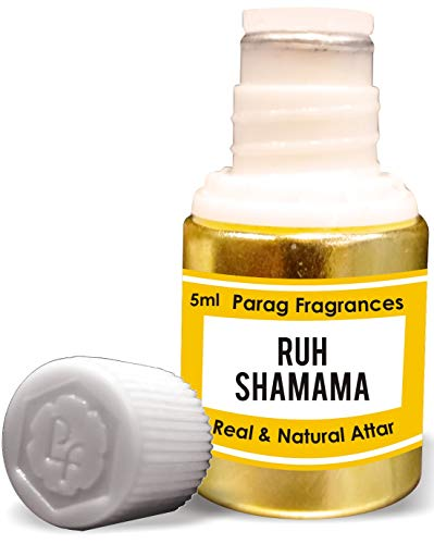 Parag Fragrances Ruh Shamama Attar 5ml (Alcohol Free Long Lasting Attar For Men or Religious Use) Traditional Bhapka Processed Attar/Made in India