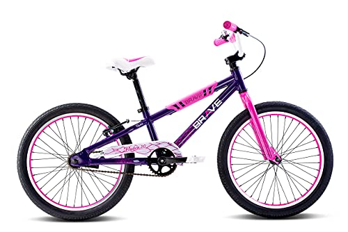 """Brave Purple Freestyle BMX Kids 20"""" Bicycle, Lightweight Aluminum Frame and Fork, Easy to Ride! Premium Parts, Premium Safety, Without The Premium Price! -  Revere Bicycles"""