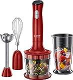 Russell Hobbs Stabmixer 3-in-1 Desire (Zerkleinerer, Mixer- & Schneebesenaufsatz), BPA-freies & spülmaschinenfestes Zubehör, Pürierstab f. Smoothie, Suppen, Joghurt, Saucen, Babynahrung...