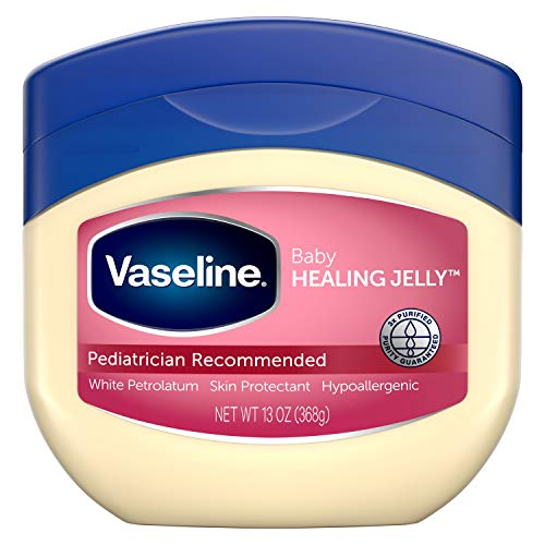 Vaseline 100% Pure Petroleum Jelly, Baby 13 oz (Pack of 3)